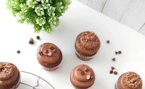 Cupcakes de Chocolate con buttercream de chocolate