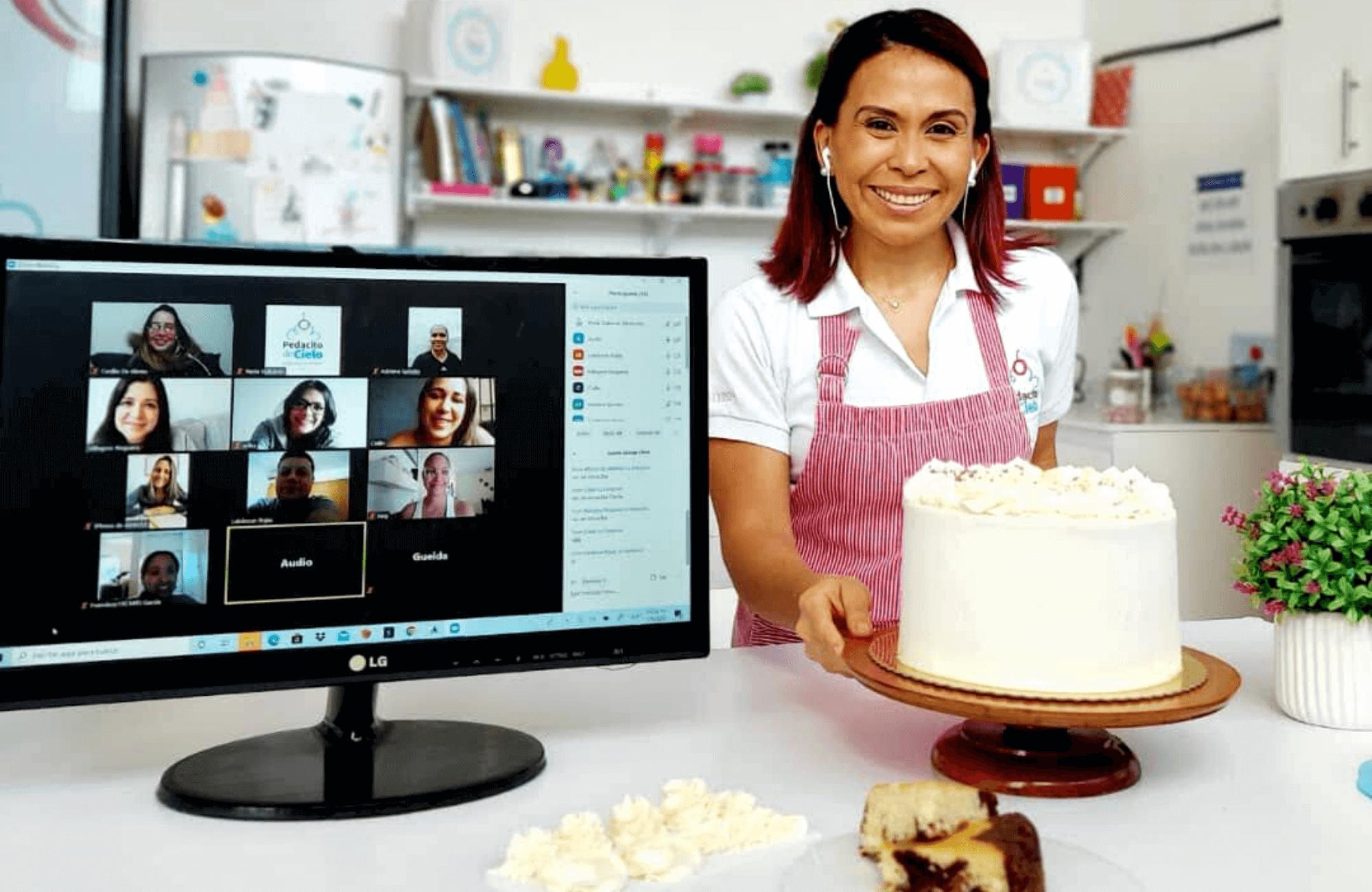 Talleres Online de reposteria artesanal de pasteles de buttercream y ganache de chocolate, decoracion de pasteles